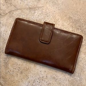 Leather wallet with check holder